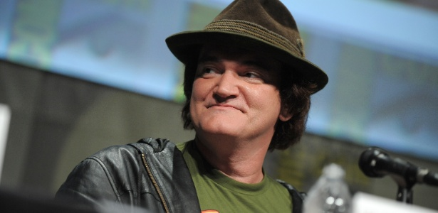 """Quentin Tarantino fala com o público durante painel de seu novo filme, """"Django Livre"""", na Comic-Con 2012, em San Diego (EUA) (14/7/12)"""