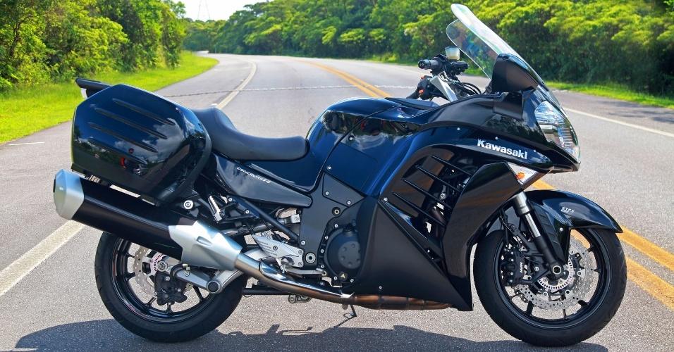Apresentada no Salão Duas Rodas de 2011, a Kawasaki Concours 14 cobra caro (R$ 74.990) em relação às suas concorrentes