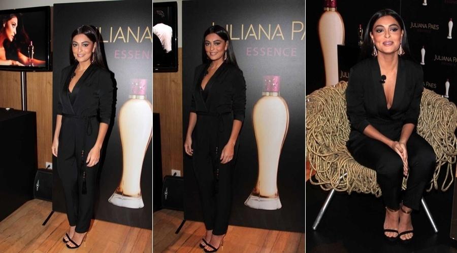 Juliana Paes lançou perfume com seu nome em um hotel em São Paulo (16/7/12)