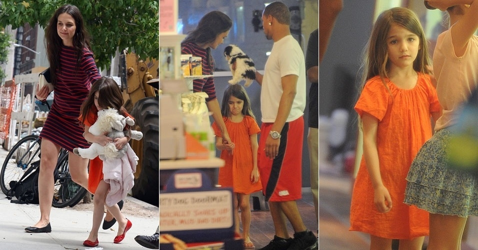 Katie Holmes se recusa a comprar cachorro para Suri e ela cai em l&#225;grimas (14/7/12)