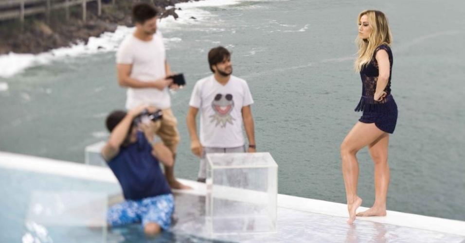 Sabrina Sato fotografou no último sábado para a campanha de uma marca de roupa feminina no Rio (16/7/12)