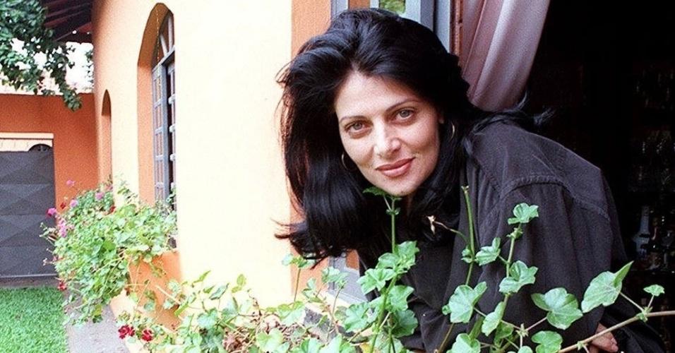 Atriz e apresentadora Sônia Lima em foto de 1996