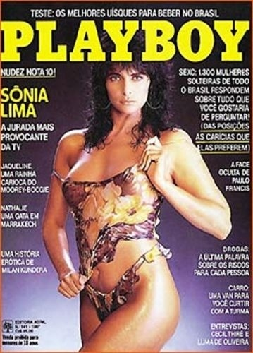 Capa da &#34;Playboy&#34; com Sonia Lima &#40;1987&#41;