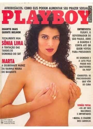 """Capa da """"Playboy"""" com Sonia Lima (1991)"""