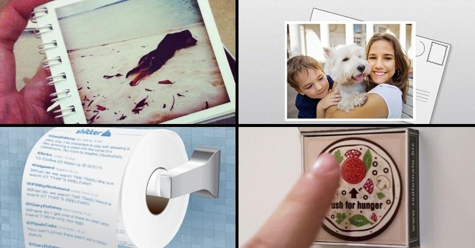 Imagem de abre: Serviços 'do virtual ao real' vão de imprimir fotos do Instagram a criar papel higiênico de tuítes