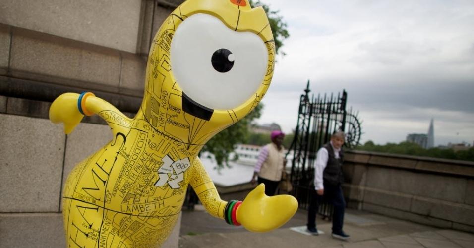 O mascote oficial dos Jogos Olímpicos de Londres-2012 foi revelado nesta terça-feira