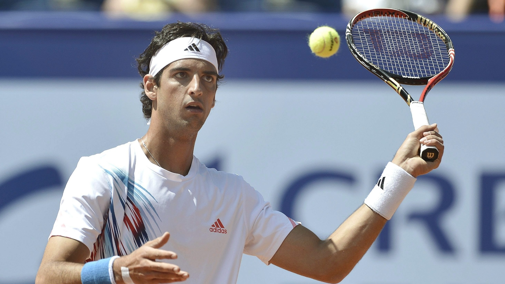 Thomaz Bellucci encarou o eslovaco Blaz Kavcic na primeira rodada do Torneio de Gstaad-2012