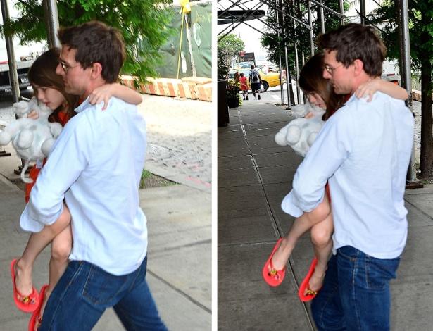 Tom Cruise com sua filha, Suri