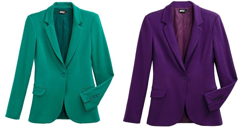 Os blazeres são peças de inverno, mas que são tendência também para o verão. Blazeres; de R$ 399 por R$ 199,50, na 284 (Tel.: 11 3081-3633). A liquidação da marca vai até o final do estoque e os descontos chegam a 70%. Preço pesquisado em julho de 2012 e sujeito a alterações