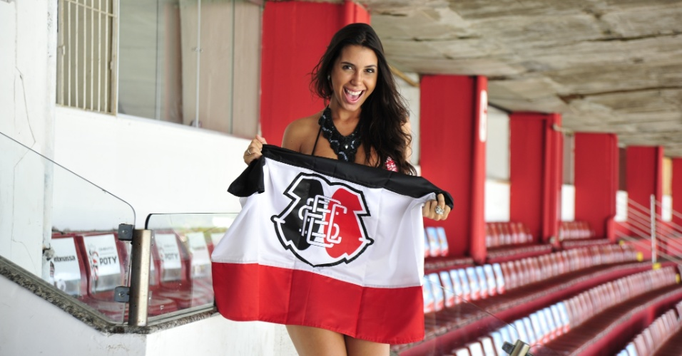Samantha Diniz &#233; a Bela da Torcida do Santa Cruz