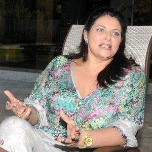 Sônia Lima em sua casa no Rio de Janeiro (10/7/12)