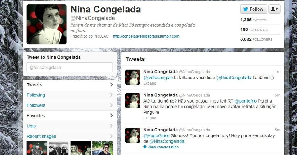 Nina Congelada vira febre em fotos de perfis nas redes sociais