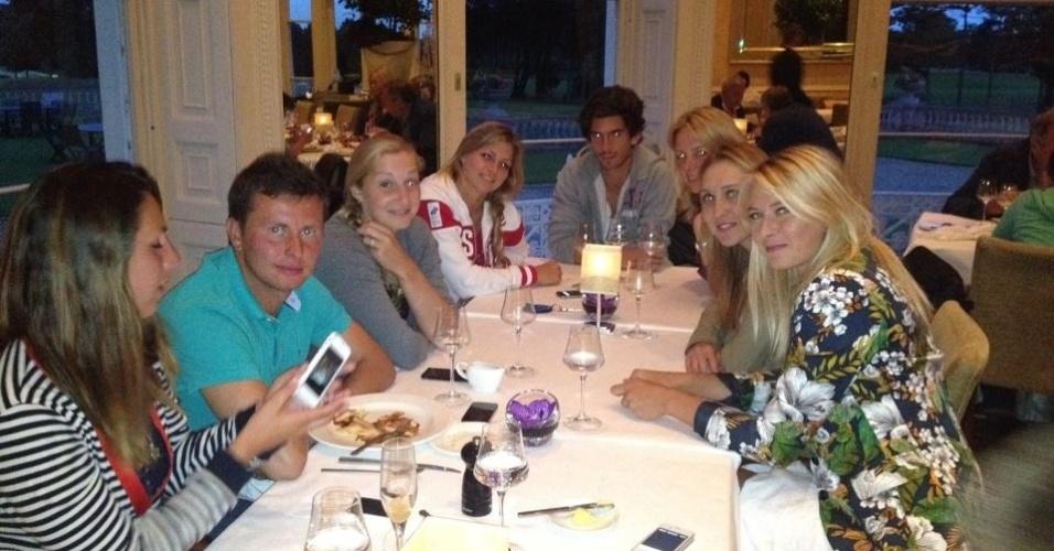 A equipe russa de tênis já está quase toda em Londres, incluindo Maria Sharapova, atual número 1 do mundo.