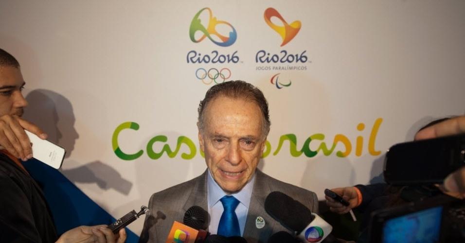 Carlos Arthur Nuzman, presidente do Comitê Olímpico Brasileiro, na abertura da