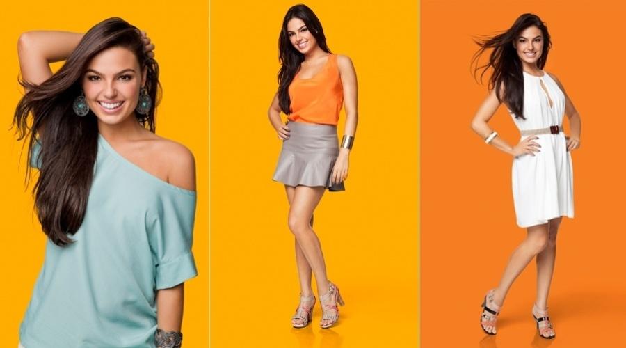 Isis Valverde fotografou para a campanha de uma marca de calçados da qual é garota propaganda (20/7/12). Nas fotos a atriz aparece bem diferente da periguete Suelen, personagem que interpreta em