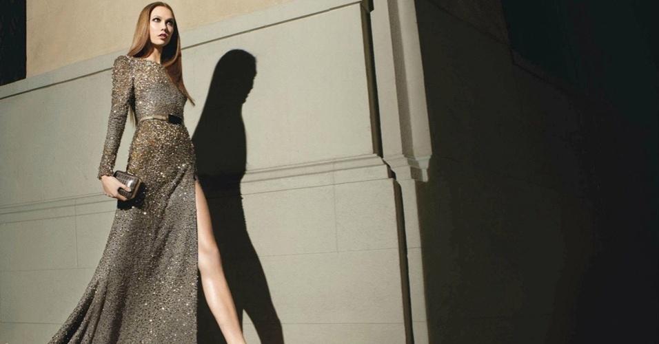 Karlie Kloss na campanha de Elie Saab para o Inverno 2012