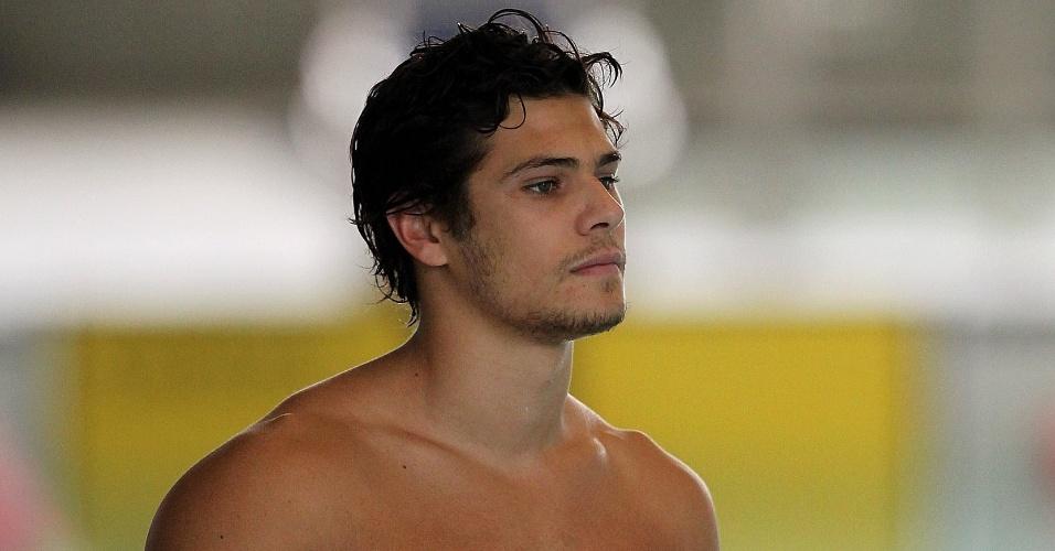Marcelo Chierighini é fotografado durante treino da seleção brasileira de natação no Crystal Palace (20/07/2012)