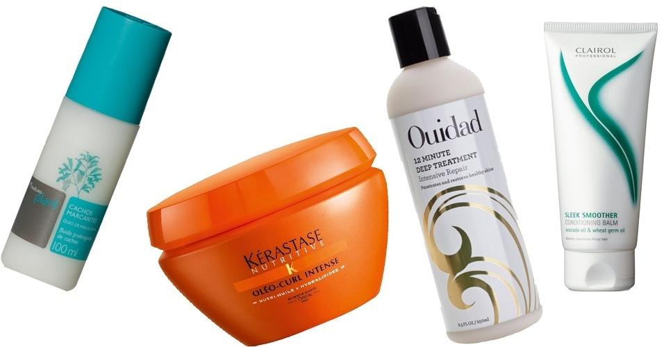 Montagem produtos para cabelos cacheados