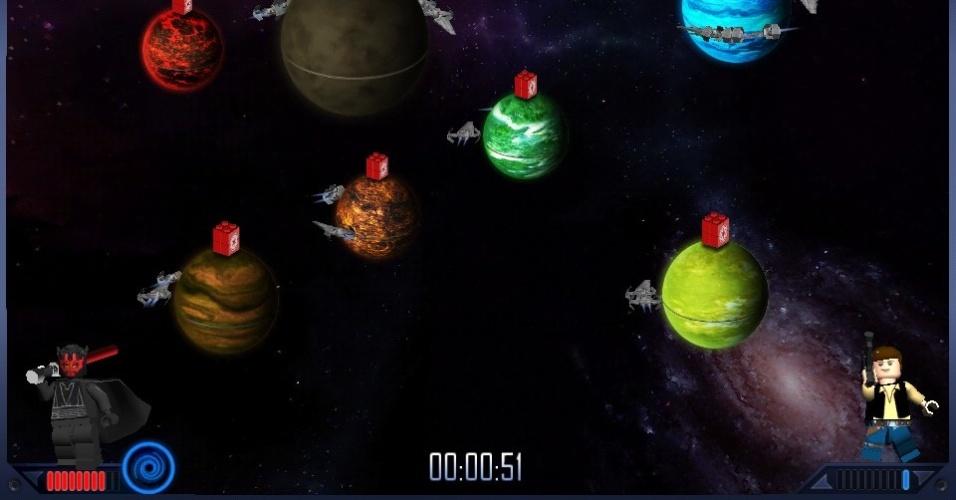 Rebeldes e Impérios duelam no espaço para conquistar planetas em