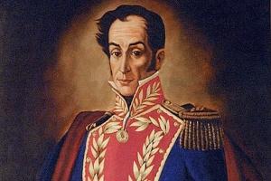 Retrato de Simón Bolívar, considerado heroi da independência da América espanhola