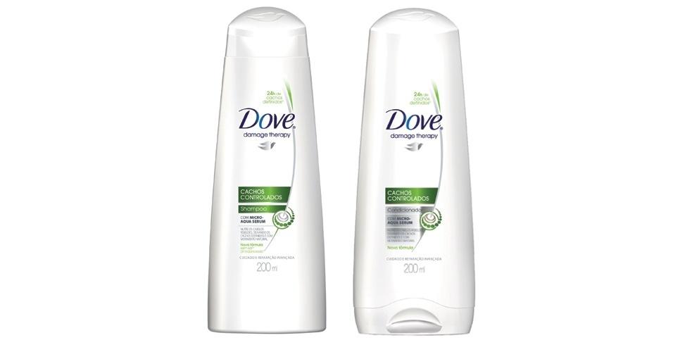 Shampoo e condicionador Dove Cachos controlados