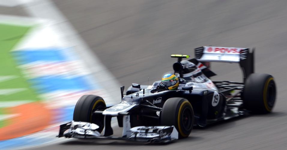 Piloto brasileiro Bruno Senna, da Williams, guia seu carro em Hockenheim