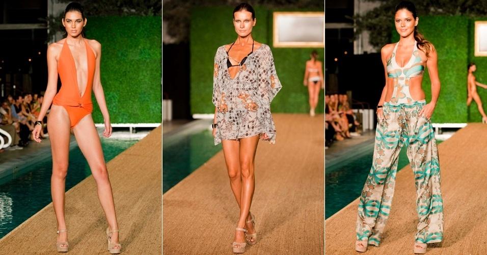 Looks de Sinesia Karol para o Verão 2013 apresentados em desfile paralelo à semana de moda de Miami (19/07/2012)