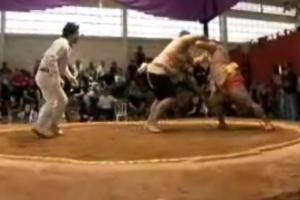 Globo Esporte mostra matéria de sumô na edição exibida em São Paulo nesta terça-feira