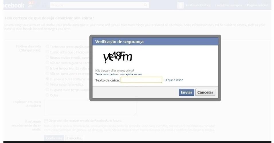 Deletar Facebook