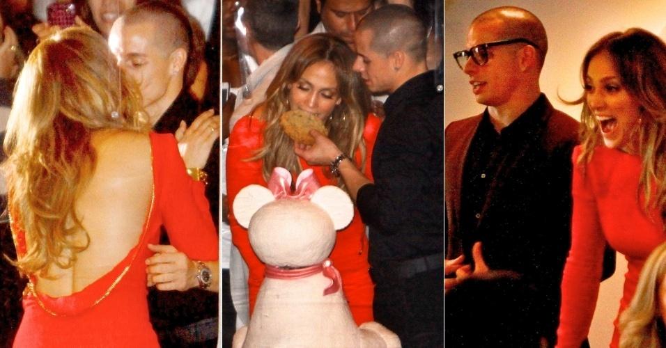Cantora Jennifer Lopez completa 43 anos e comemora ao lado do namorado (26/7/12)