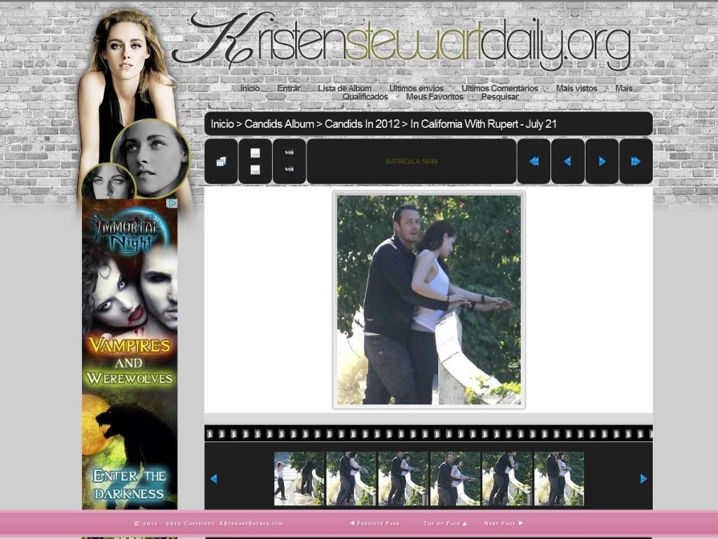 Site de fãs reúne fotos de traição de Kristen Stewart