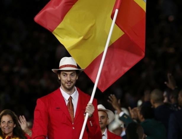 Atleta do basquete, Pau Gasol lidera delegação da Espanha no desfile de abertura das Olimpíadas