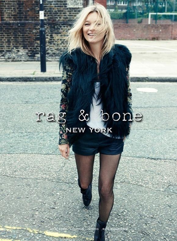 Kate Moss para a primeira campanha da marca Rag