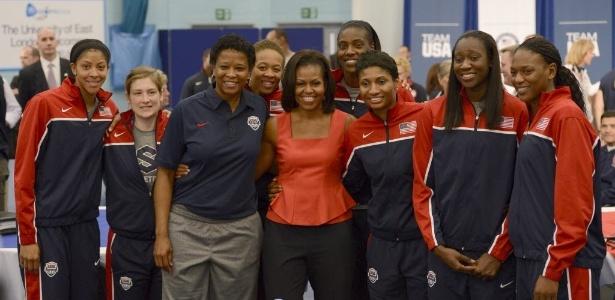 Michelle Obama, primeira dama dos Estados Unidos, encontrou-se com atletas