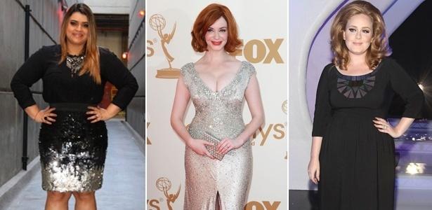 Preta Gil, Christina Hendricks e Adele são mulheres que sabem valorizar suas curvas