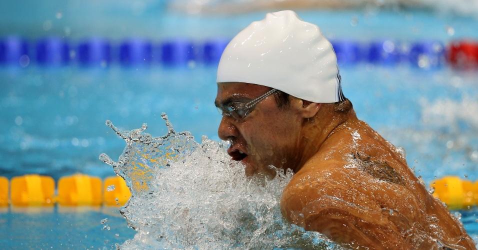 Felipe França avançou à semifinal dos 100 m peito apenas com o 15º melhor tempo