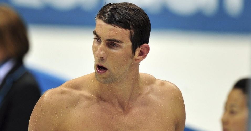 Michael Phelps deixou a piscina de Londres decepcionado com o quarto lugar nos 400 m medley