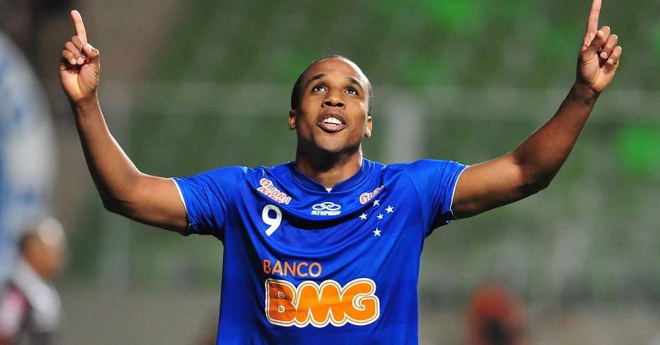 Borges comemora gol pelo Cruzeiro