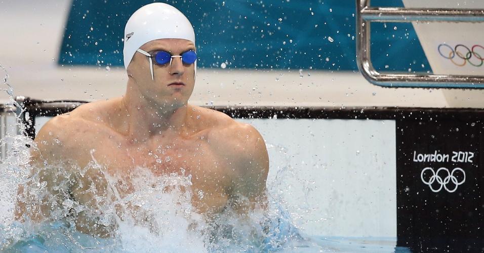 Brasileiro Daniel Orzechowski não conseguiu se classificar nas eliminatórias dos 100 m costas