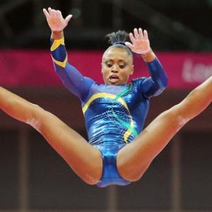 Daiane dos Santos em ação nas Olimpíadas; ginasta não foi mal, mas não fez o bastante para avançar