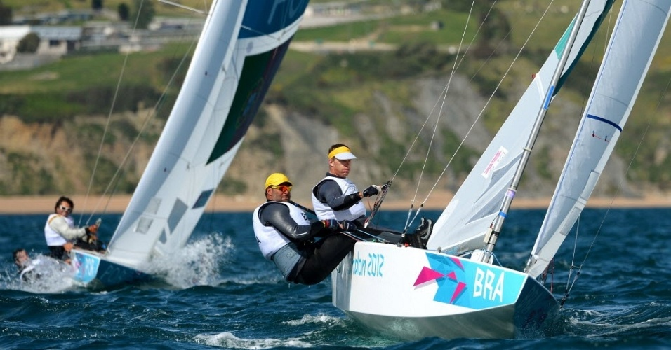 Robert Scheidt e Bruno Prada disputam a segunda regata da classe Star nos Jogos de Londres