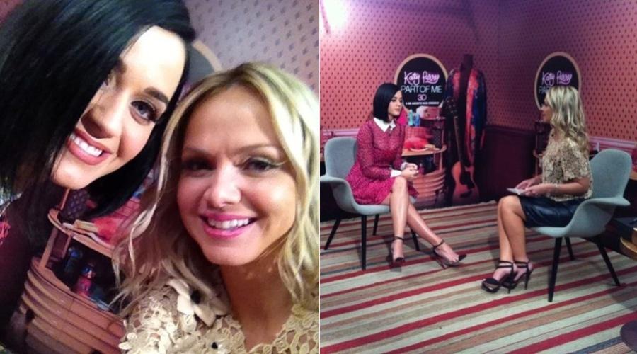 Eliana tietou Katy Perry durante entrevista feita com a cantora nesta segunda, em um hotel no Rio (30/7/12)