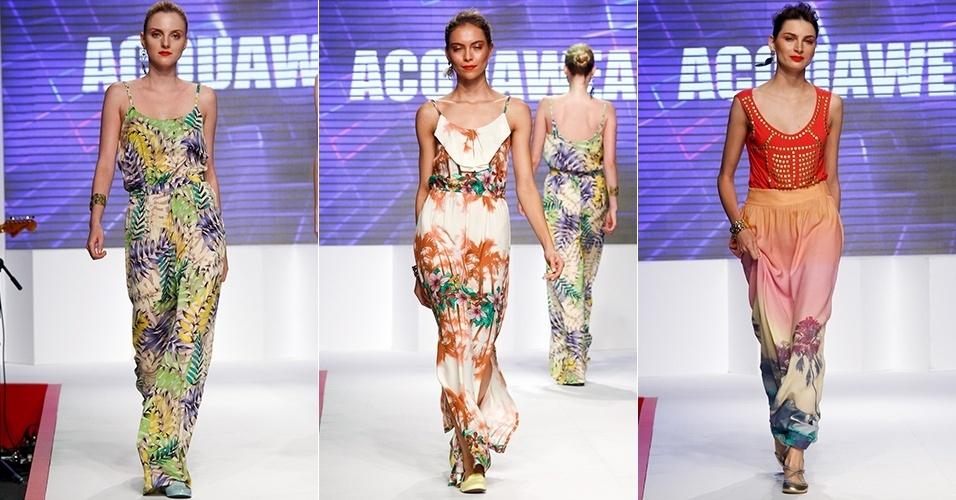 Looks da Acquawear para o Verão 2013 no Mega Polo Moda, em São Paulo (30/07/2012)