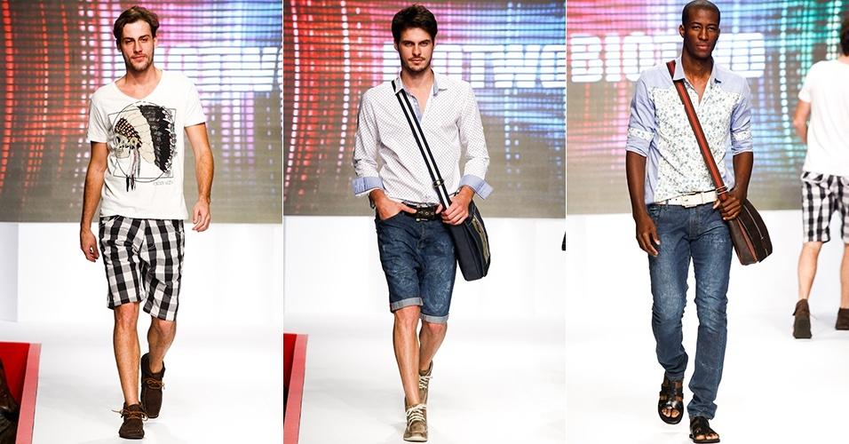 Looks da Biotwo para o Verão 2013 no Mega Polo Moda, em São Paulo (30/07/2012)