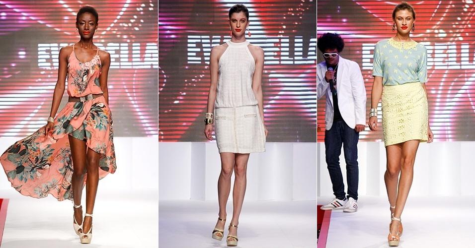 Looks da Eva Bella para o Verão 2013 no Mega Polo Moda, em São Paulo (30/07/2012)