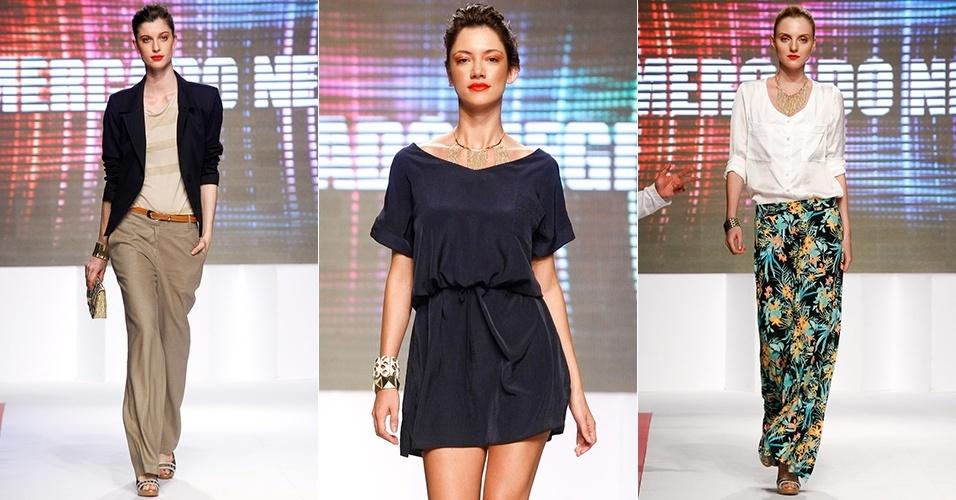 Looks da Mercado Negro para o Verão 2013 no Mega Polo Moda, em São Paulo (30/07/2012)