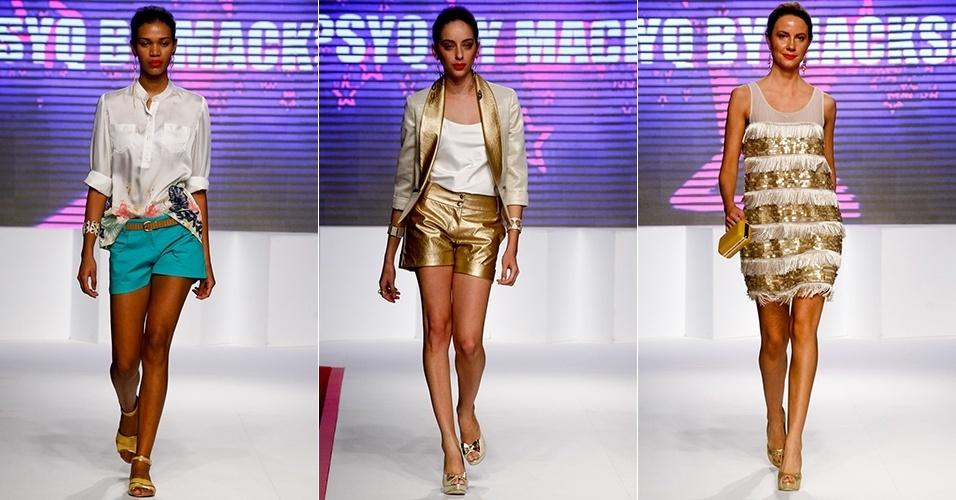 Looks da Psyq by Macksonn para o Verão 2013 no Mega Polo Moda, em São Paulo (30/07/2012)