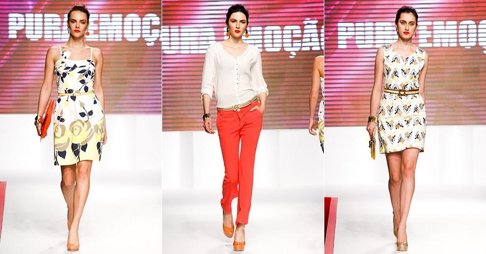 Looks da Pura Emoção para o Verão 2013 no Mega Polo Moda, em São Paulo (30/07/2012)