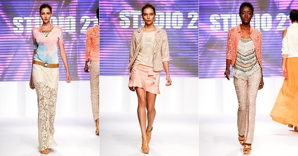 Looks da Studio 21 para o Verão 2013 no Mega Polo Moda, em São Paulo (30/07/2012)