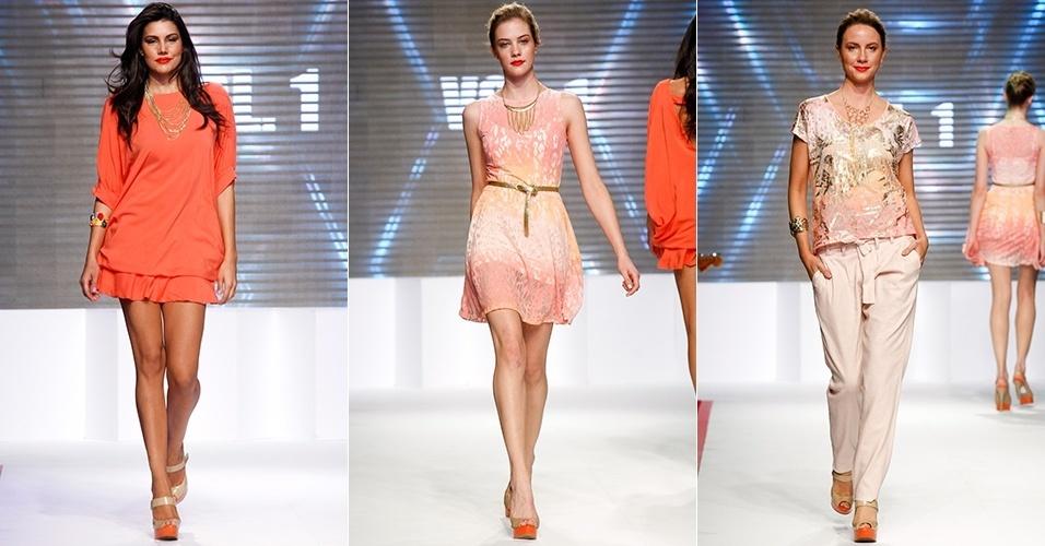 Looks da Vol 1 para o Verão 2013 no Mega Polo Moda, em São Paulo (30/07/2012)